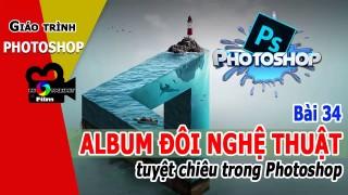 ★ THẾT KẾ ALBUM ĐÔI trong Photoshop Giáo trình Photoshop trọn bộ Bài 34 – nhiep anh ha noi